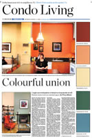 Article on Colour Theory  in Toronto Star Newspaper
